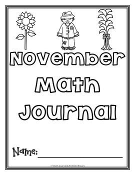 November 1st Math Journal
