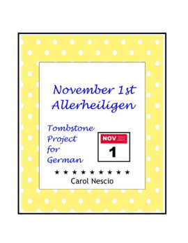 November 1st Tombstone * Project For German