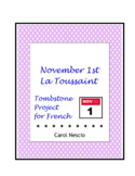 November 1st * Tombstone Project For French