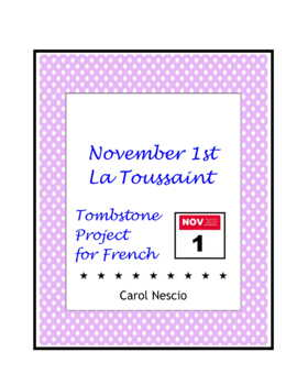 November 1st Tombstone * Project For French