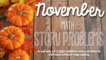 November 2 Digit Story Problems