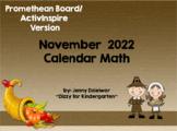 November 2018 Calendar for the Promethean Board (ActivBoard)
