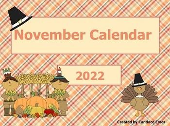 November 2017 Activboard Calendar Activities