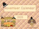 November 2018 Activboard Calendar Activities
