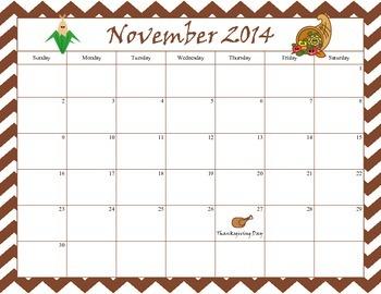 November 2014 Calendar - Free Download