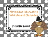 November 2020 Interactive Whiteboard Calendar