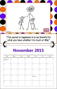 November 2015 ( A 1-Month Inspirational Calendar for Teachers)