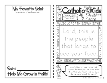 November 2016 Catholic Kids Bulletins: Weekly Mass Activity Pages