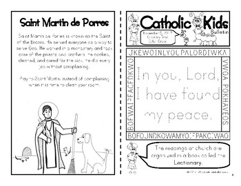 November 2017 Catholic Kids Bulletin