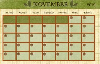 November 2018 Calendar - 11x17