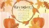November 2018 Free Fall Calendar Computer Wallpaper