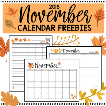 photograph relating to Printable Hourly Calendar known as November 2018 Printable Every month, Weekly, and Hourly Calendars - FREEBIE