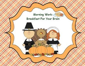 November 2nd Grade Common Core Morning Bell  Work