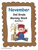 November Morning Work for Second Grade