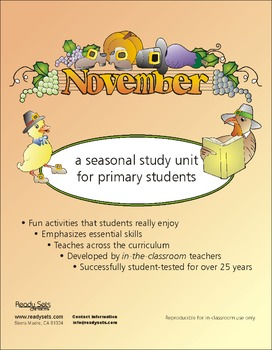 November 32-Page Thematic Lesson Plans Booklet
