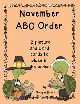 November ABC order center