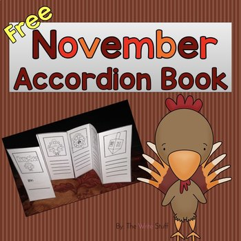 November Accordion Book {Freebie}