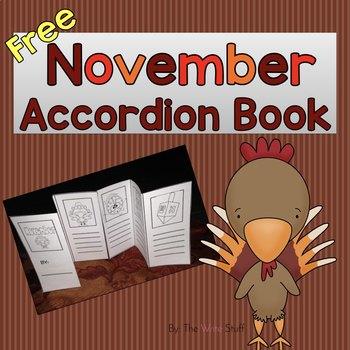 November Accordion Book {Freebie}