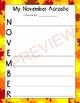 November Acrostic Poetry