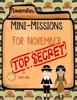 November Mini-Missions Critical Thinking Activities