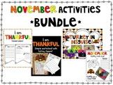 November Activities Bundle {Disguise a Turkey, I am Thankf