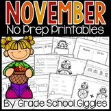 Phonics And Math Worksheets For Kindergarten   November Morning Work Activities