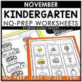 Phonics And Math Worksheets For Kindergarten | November Morning Work Activities