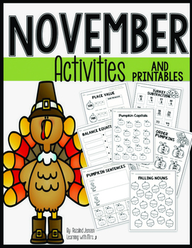November Activities - Math and Literacy Second Grade