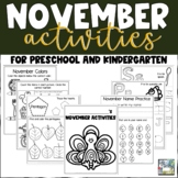 November Activities for Preschool and Kindergarten