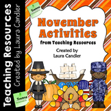 November Activities and Printables for Fall and Thanksgiving