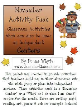 November Activity Pack
