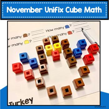 November Activity Unifix Cube Math