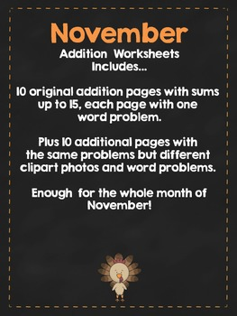 November Addition Practice