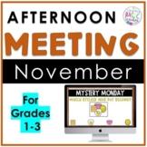 November Afternoon Meeting