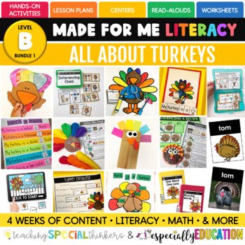 November: All About Turkeys (Made For Me Literacy)