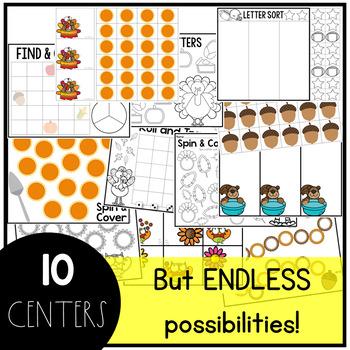 November Alphabet Centers: Editable Letter ID Centers