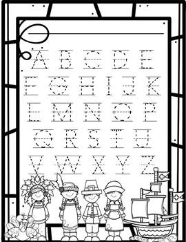November Alphabet Handwriting