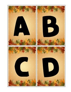 November Alphabet and Sight Word Game Cards