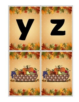 Alphabet and Sight Word Game Cards November