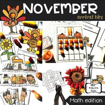 November Arrival Bins--Math Edition