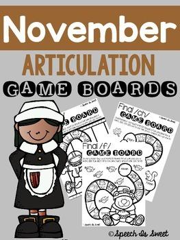 November Articulation Game Boards