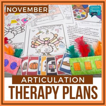 November Articulation Therapy Plans