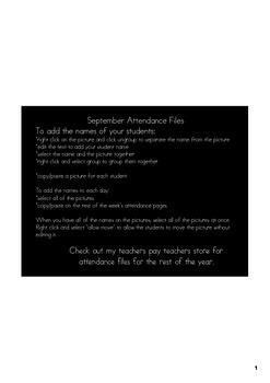 November Attendance File - Smart Notebook File