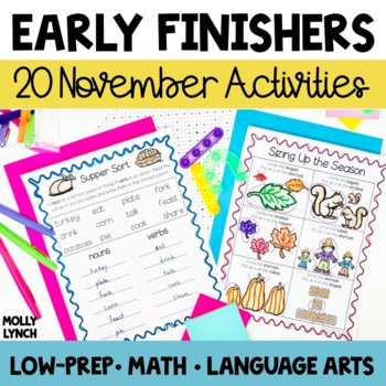 Early Finishers - November