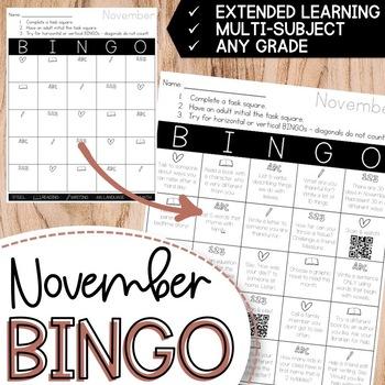 November BINGO Extended Learning