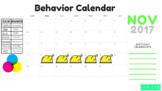 November Behavior Chart
