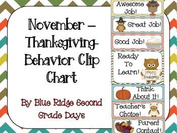 November Behavior Clip Chart