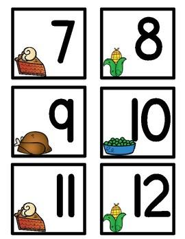 November Bilingual Calendar Numbers