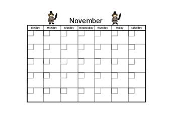 November Blank Calendar