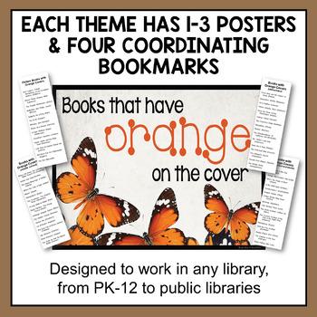 November Book Display Signs with Editable Readalike Bookmarks